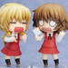 An example of the stickers used on the blank expression, displayed together with Nendoroid Yuno! (sold separately)