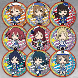 LoveLive!Sunshine!! Nendoroid Plus Collectible Rubber Coaster Keychains: Mirai no Bokura wa Shitteru yo